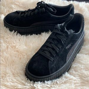 Fenty Black Suede Creepers